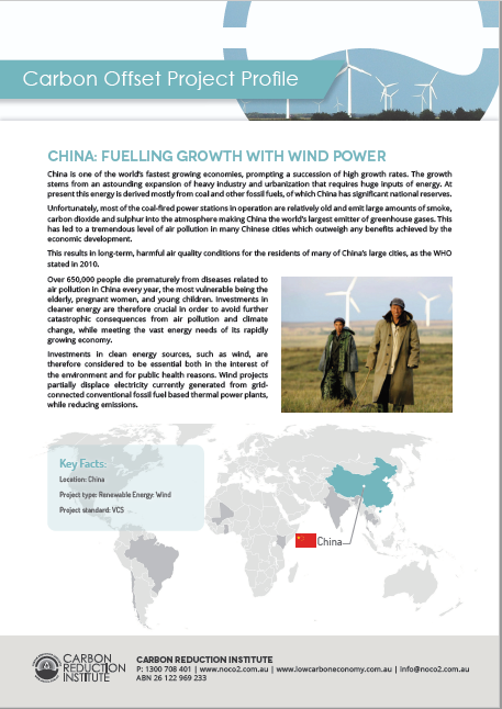 China Generic Wind Carbon Offset Project