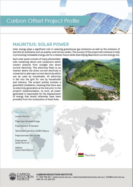 Mauritius Solar Carbon Offset Project
